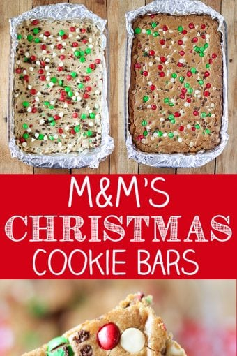 M&M'S Christmas Cookie Bars