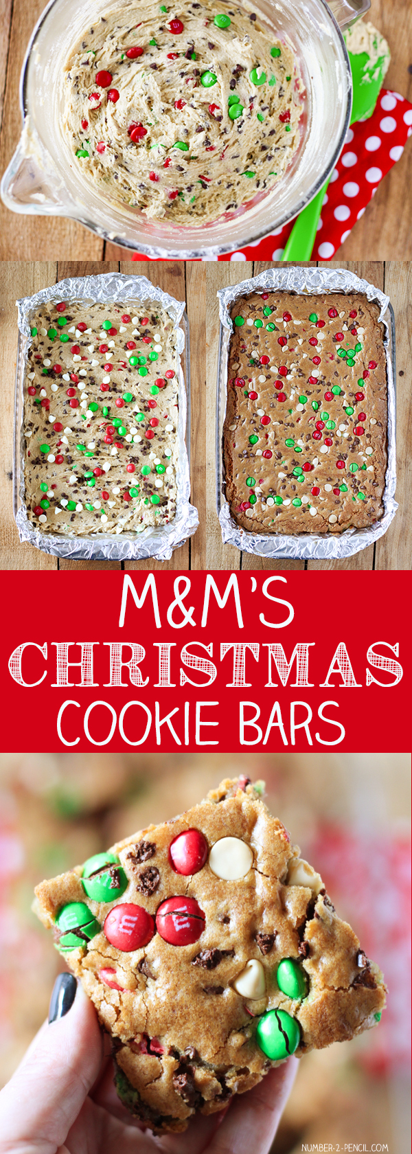 M&M'S Christmas Cookie Bars - No. 2 Pencil
