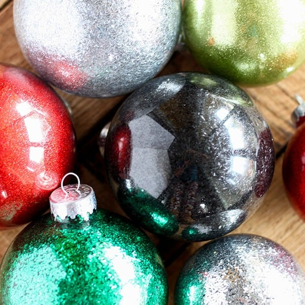 DIY Glitter Ornaments for Christmas