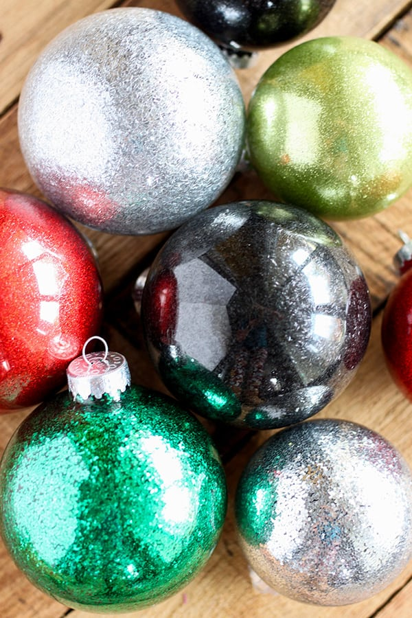 DIY Glitter Ornaments for Christmas - easy Christmas craft! - DIY Glitter Ornaments For Christmas - No. 2 Pencil
