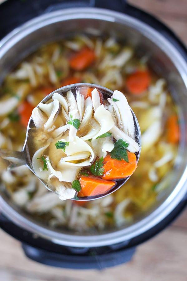 instant pot chicken noodle soup - no. 2 pencil