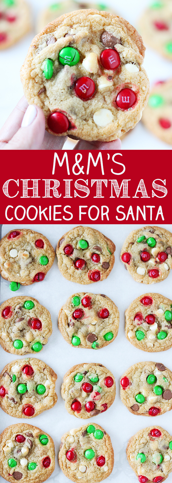 M&M's Christmas Cookies for Santa