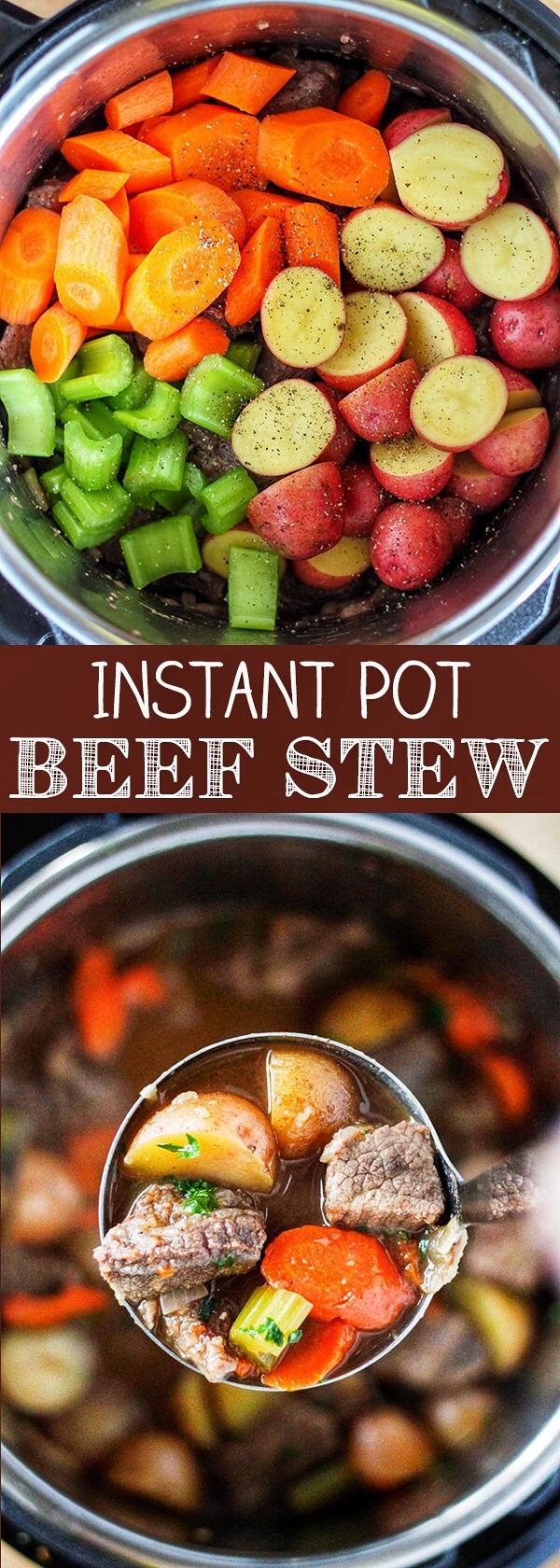 Instant Pot Pressure Cooker Beef Stew