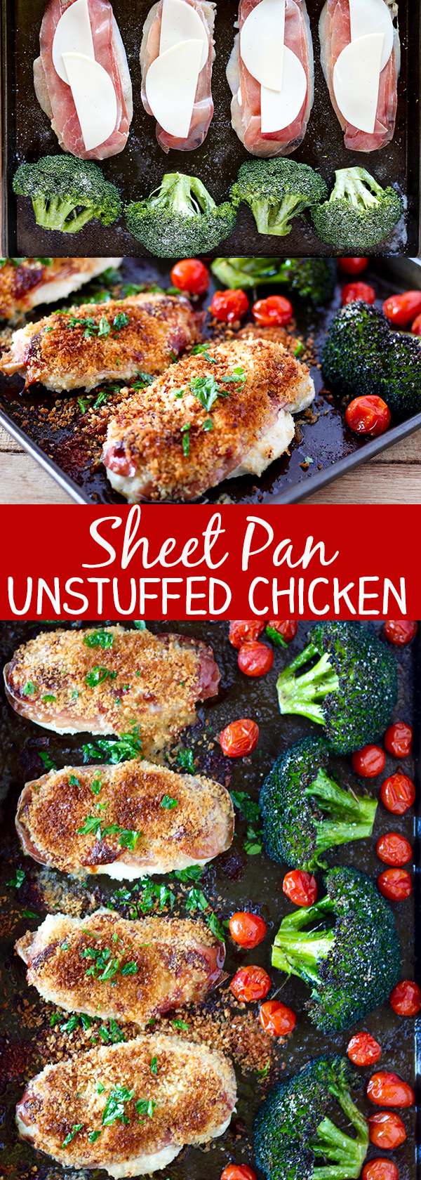 Sheet Pan Unstuffed Chicken Breasts and Roasted Broccoli