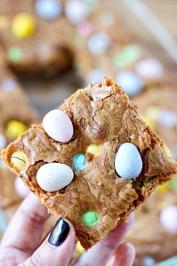Cadbury Mini Eggs and M&M'S Easter Cookie Bars