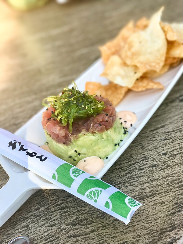 Ahi Poke from Disneyland Trader Sam's Enchanted Tiki Bar