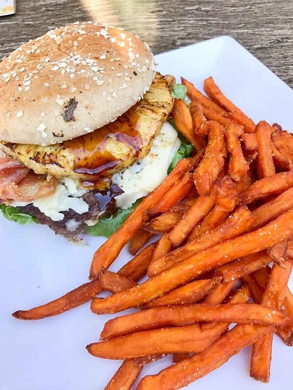 Hawaiian Cheeseburger from Disneyland Trader Sam's Enchanted Tiki Bar