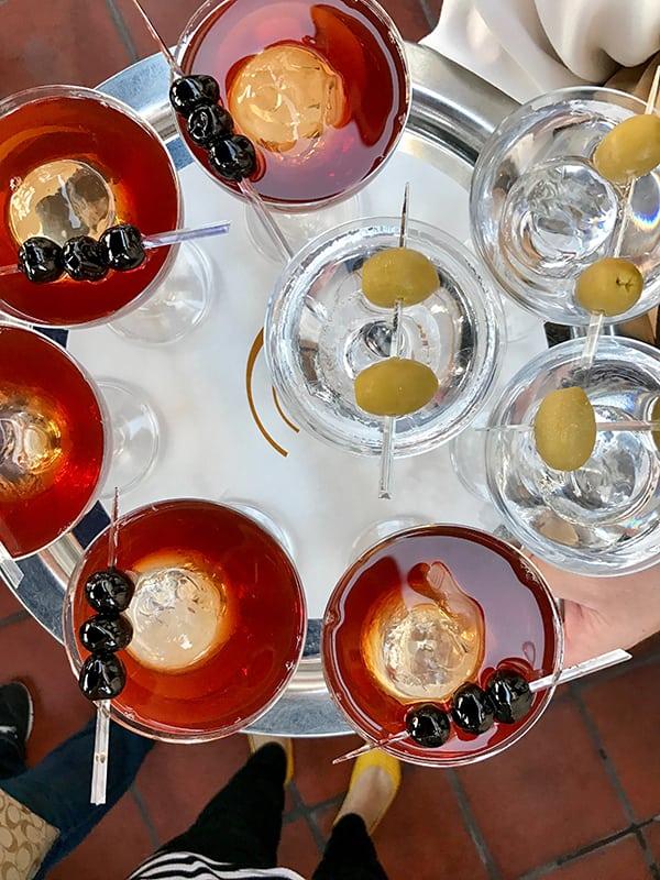 Carthay Martini and Manhattans at Carthay Circle Restaurant