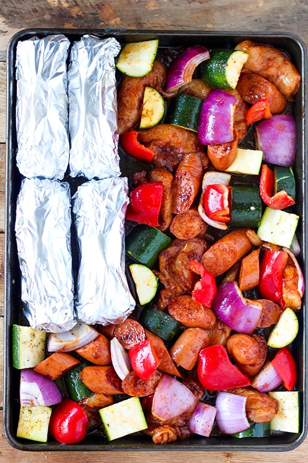 Sheet Pan BBQ Chicken Dinner-2