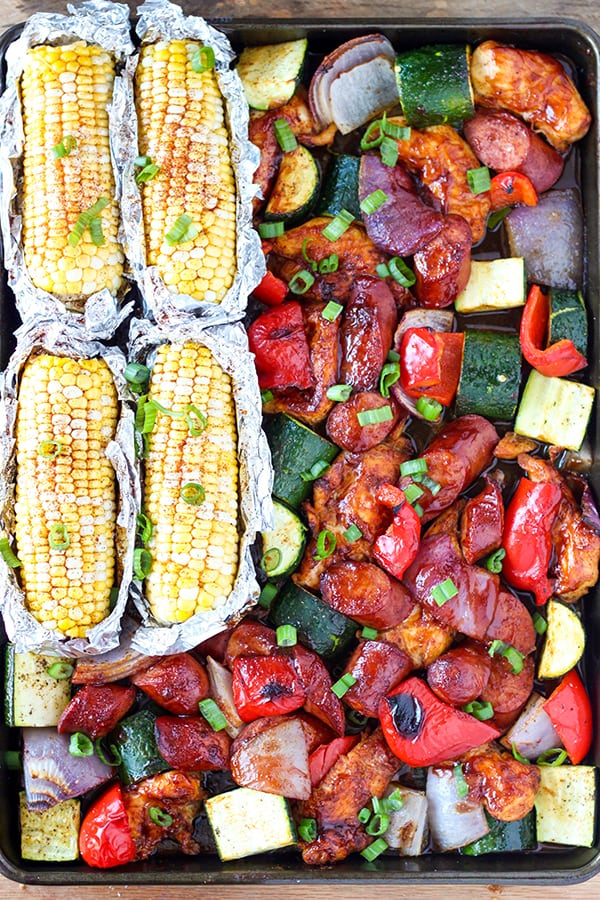 Sheet Pan BBQ Chicken Dinner-3