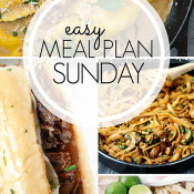 Easy Meal Plan Long Collage