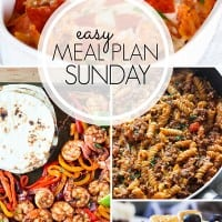 Easy Meal Plan Long Collage Week 100