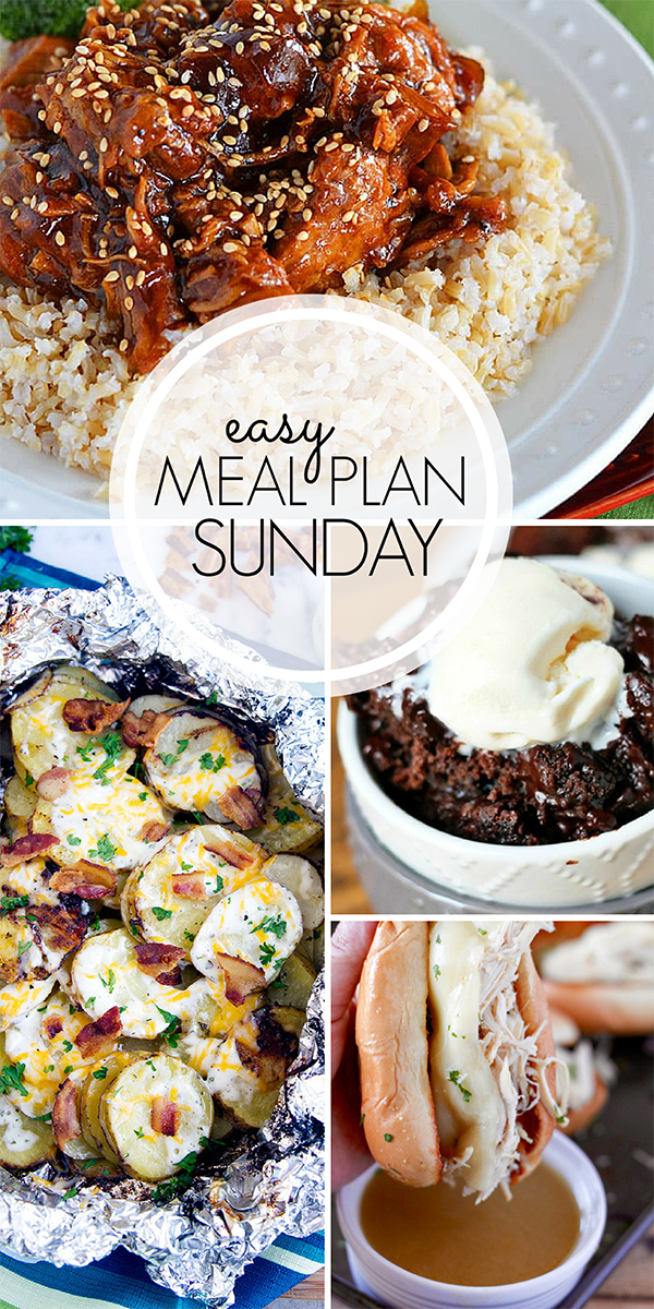 Easy Meal Plan for the Week