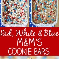 Red White and Blue M&M'S Cookie Bars Pin