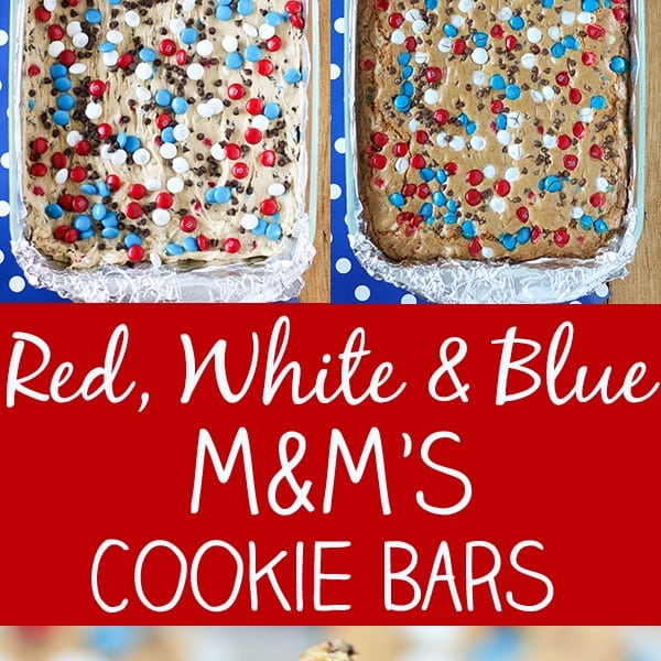 Red, White and Blue M&M'S Cookie Bars