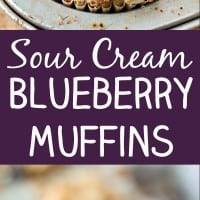 Sour Cream Blueberry Muffins Pin