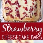 Strawberry Cheesecake Bars Pin