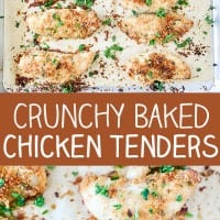Crunchy Baked Chicken Tenders Pin