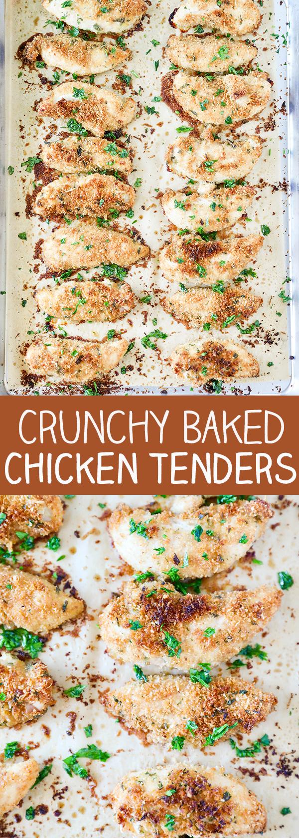 Crunchy Baked Chicken Tenders