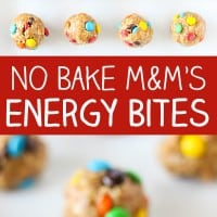 No Bake M&M'S Energy Bites Pin