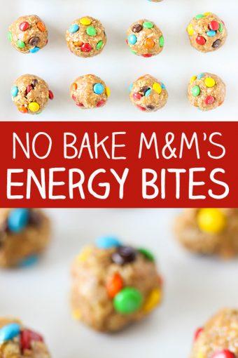 No Bake M&M'S Energy Bites
