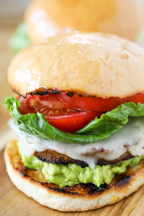 Santa Barbara Style Grilled Turkey Burger