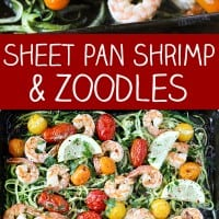 Sheet Pan Shrimp and Zuchinni Noodles