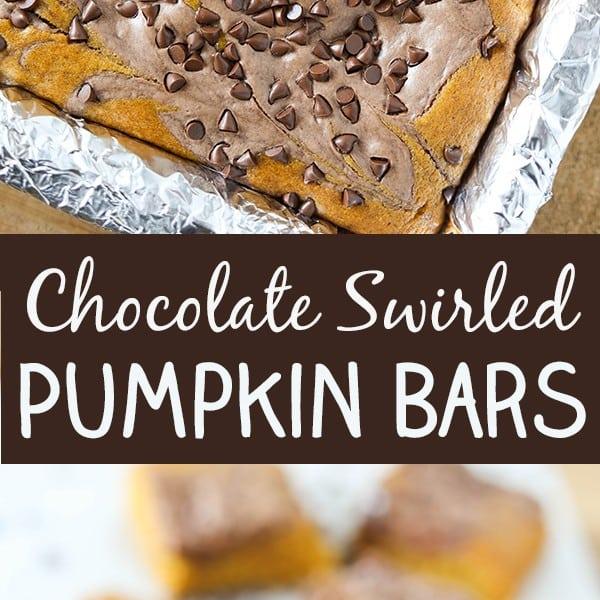 Chocolate Swirled Pumpkin Bars