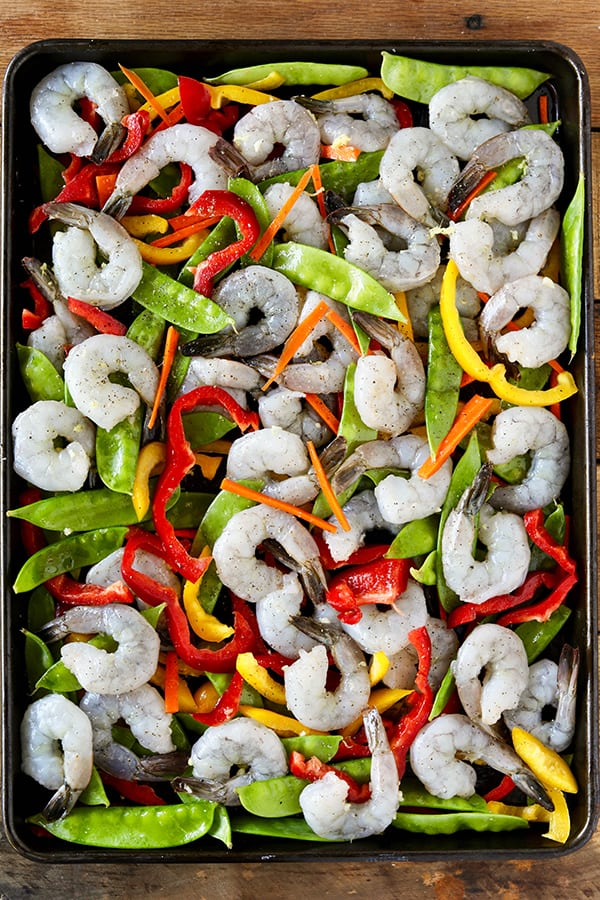 Sheet Pan Shrimp Stir-Fry - easy sheet pan dinner idea!