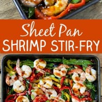Sheet Pan Shrimp Stirfry Pin