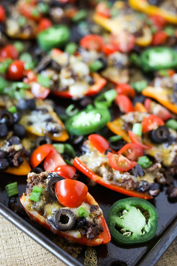 Bell Pepper Nachos - easy and healthy dinner or appetizer!