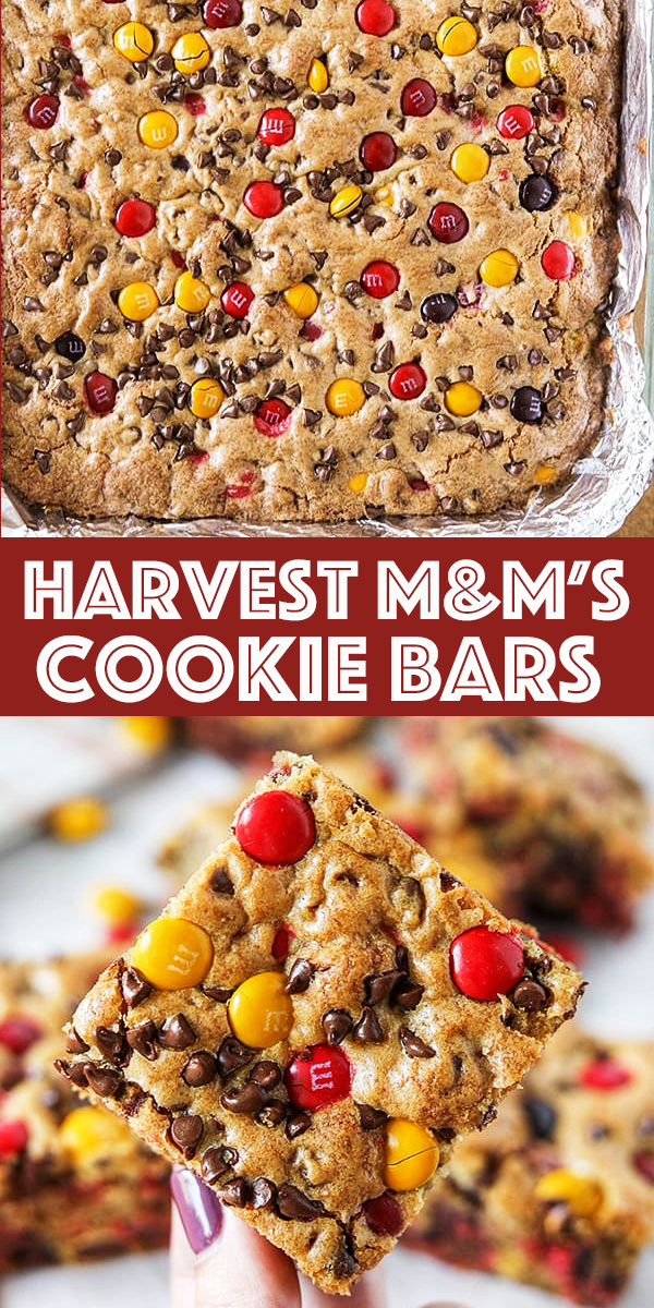 Harvest M&M'S Cookie Bars