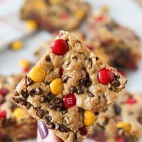 Halloween Harvest M&M's Cookie Bars-3-2
