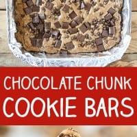 Chocolate Chunk Cookie Bars