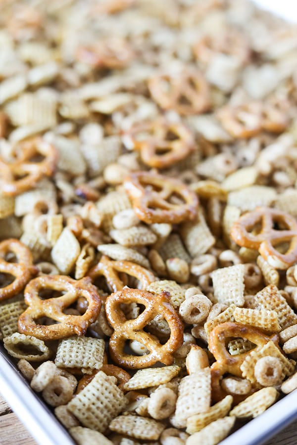 Homemade Slow Cooker Chex Party Mix