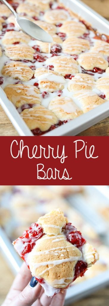 Cherry Pie Bars aka Cherry Kuchen Bars