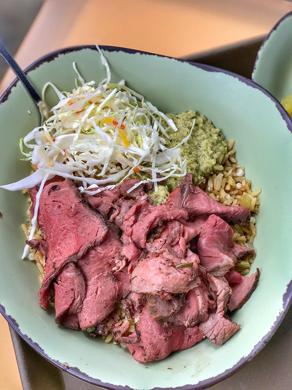 Slow-Roasted Sliced Grilled Beef Bowl from Satu'li Canteen in Pandora