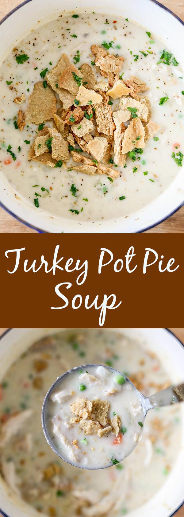 Easy Turkey Pot Pie Soup