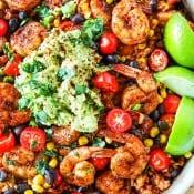 One Pot Shrimp Burrito Bowls 2
