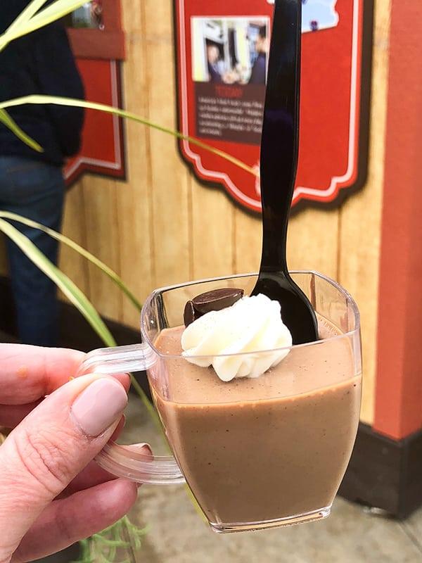 Mexican Chocolate Custard Disney California Adventure Food and Wine Festival at Disneyland