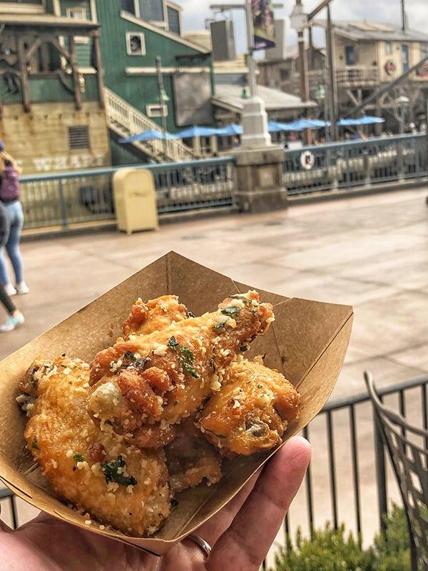 Salt & Beer Vinegar Parmesan Chicken Wings Disney California Adventure Food and Wine Festival at Disneyland