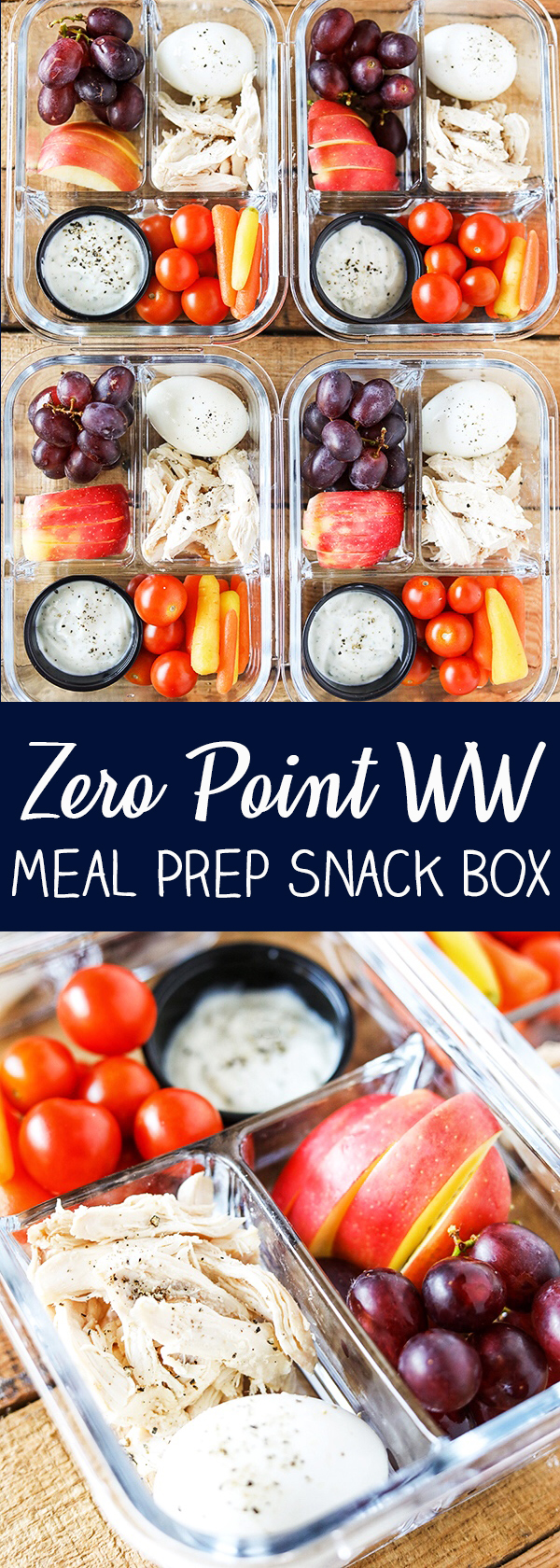 Protein Fruit and Veggie Meal Prep Bistro Box - Zero Weight Watchers Freestyle Points
