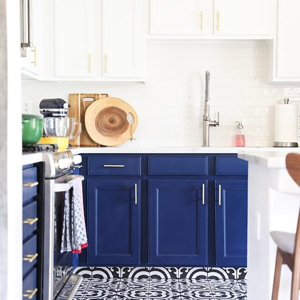 Our Navy Blue and White Kitchen Remodel