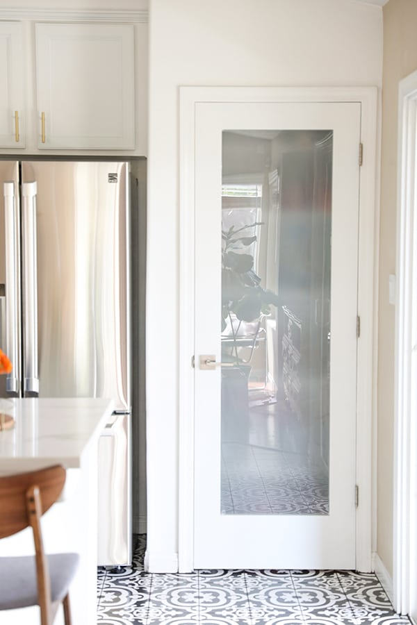 Budget Friendly Glass Pantry Door