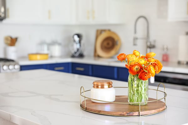 White Marble Style Quartz Countertops