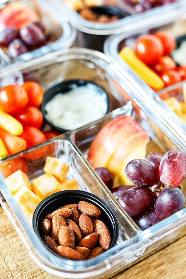 Easy Meal Prep Bistro Style Make-Ahead Snack Boxes #MealPrep #EasyMealPrep