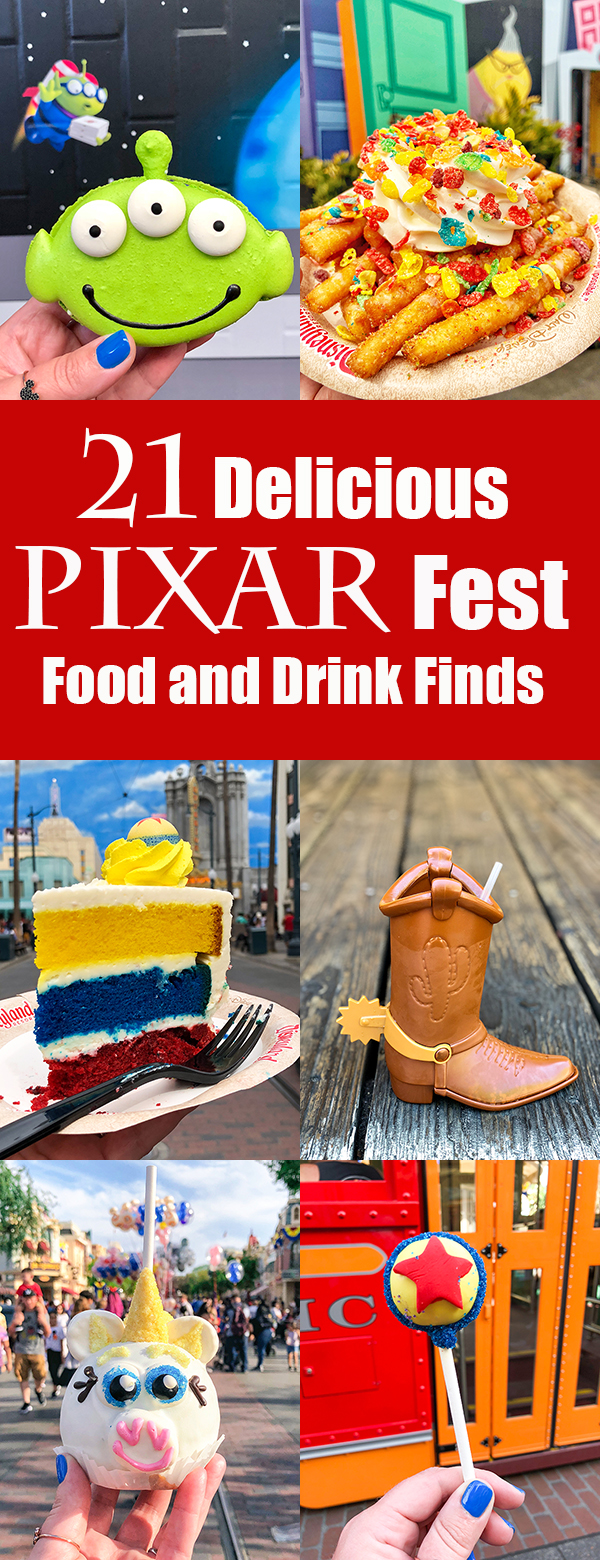 The Best Disneyland Pixar Fest Food - Pixar Fest at Disneyland is happening now through September 3rd and Disneyland has really gone all in on the unbelievably cute Pixar Fest Food.  From lunch at Alien Pizza Planet to UP Funnel Cake Fries and Monsters University Whoopie Pies, the Pixar Fest Food is both delicious and totally Instagram worthy!