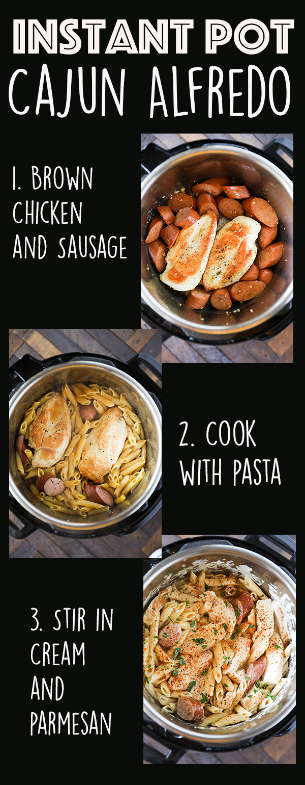 Instant Pot Cajun Chicken Pasta - easy Instant Pot Pasta Recipe.