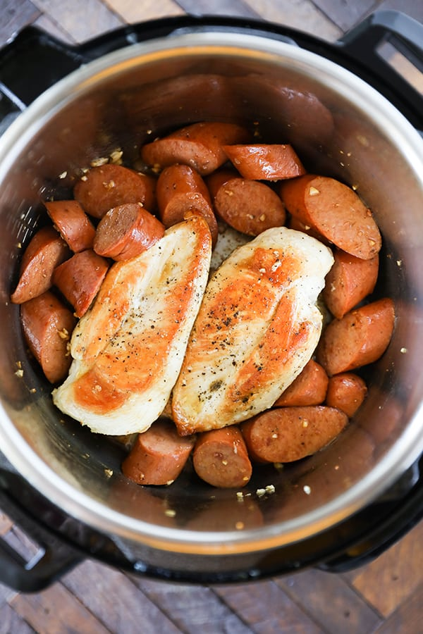 Instant Pot Chicken Breasts and Sausage