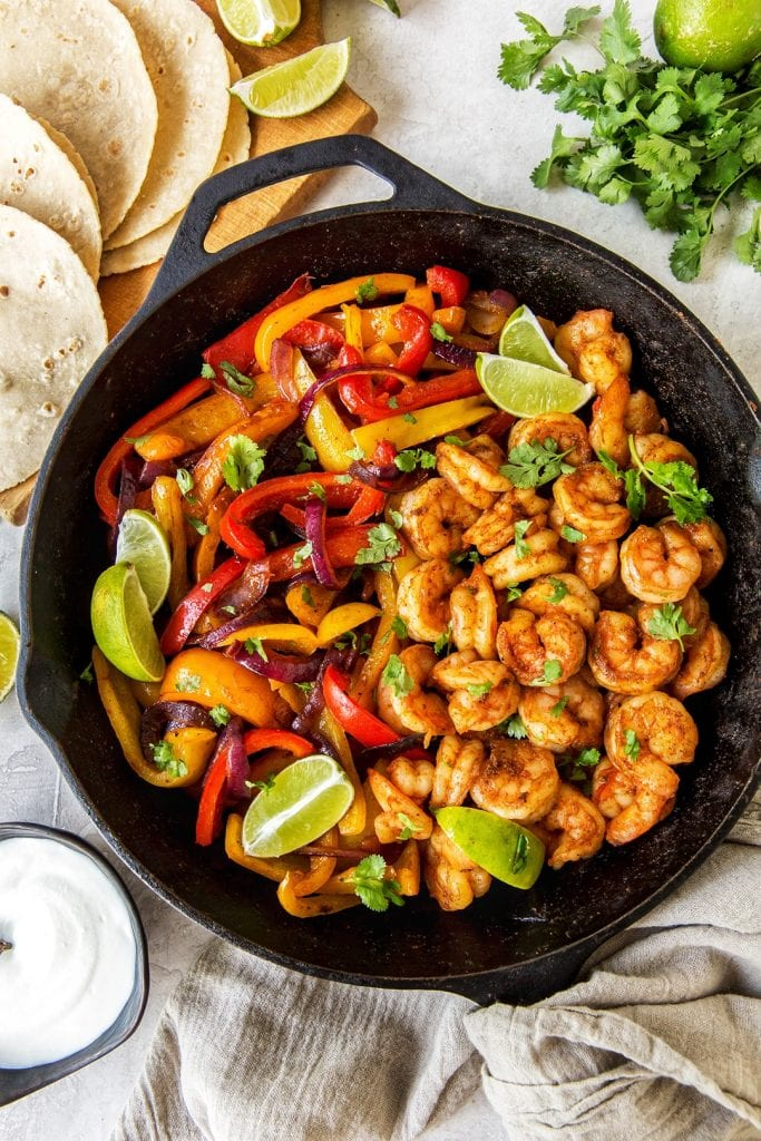 Easy Dinner Rezept Shrimp Fajitas